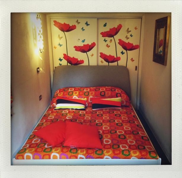 La camera da letto di Casa La Ghianda