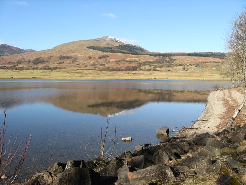 Ben Ledi - from Loch Vennacher, by Callander