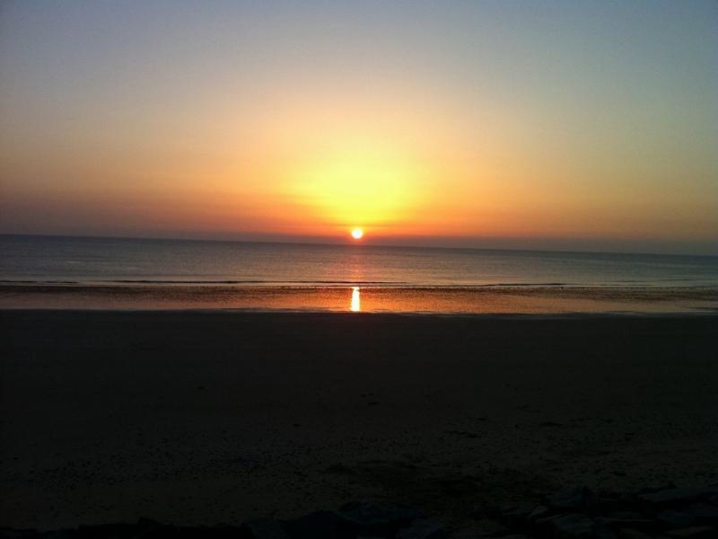 Un coucher de soleil à Pirou