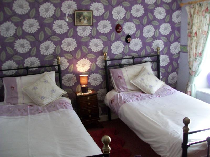cosy twin bedroom overlooking the garden