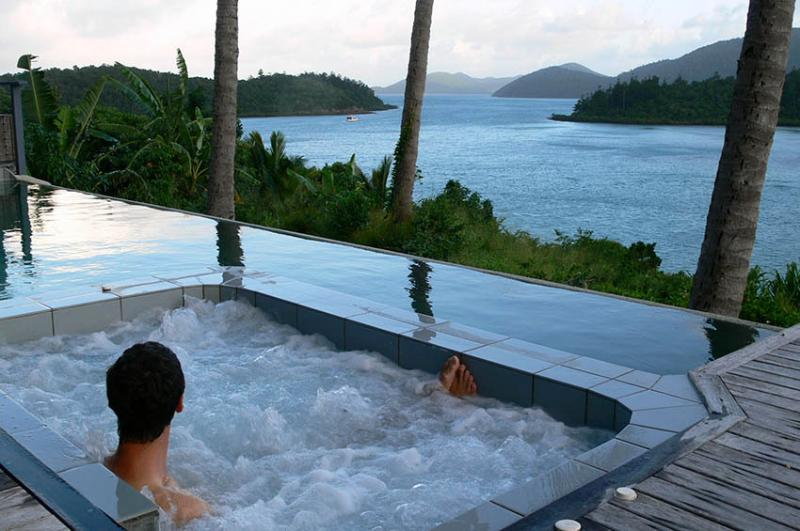 Relax in paradise overlooking tropical islands.  Destination accommodation - no need to leave at all