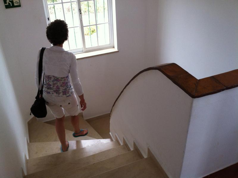 Marble inside stair