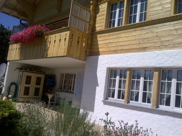 Chalet Betula apartment is 69 meters square, and is under the main chalet where the owners live.