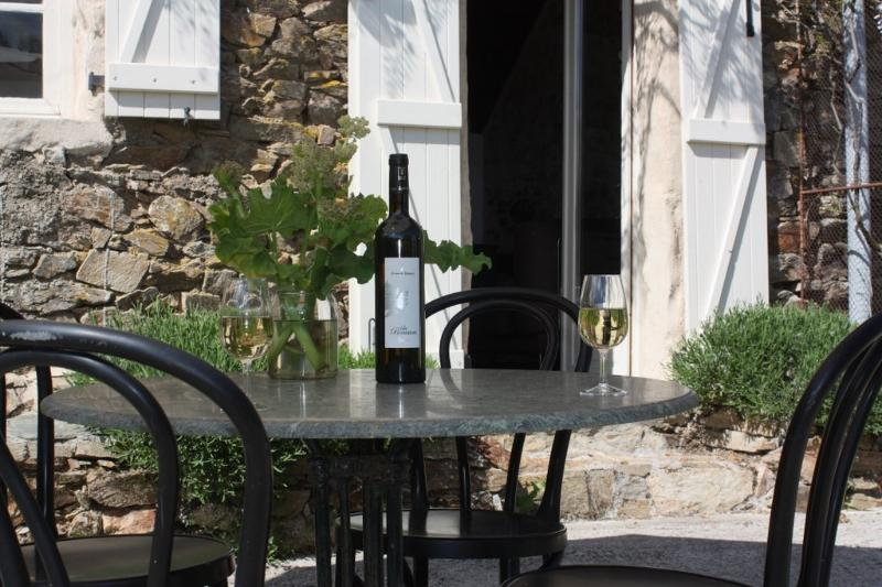 Enjoy a nice bottle of wine on your private terrace