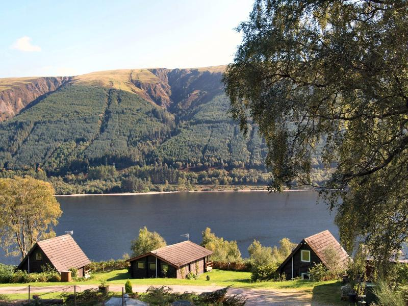 Vue imprenable à The Great Glen Lodges ici dans les Highlands d'Ecosse