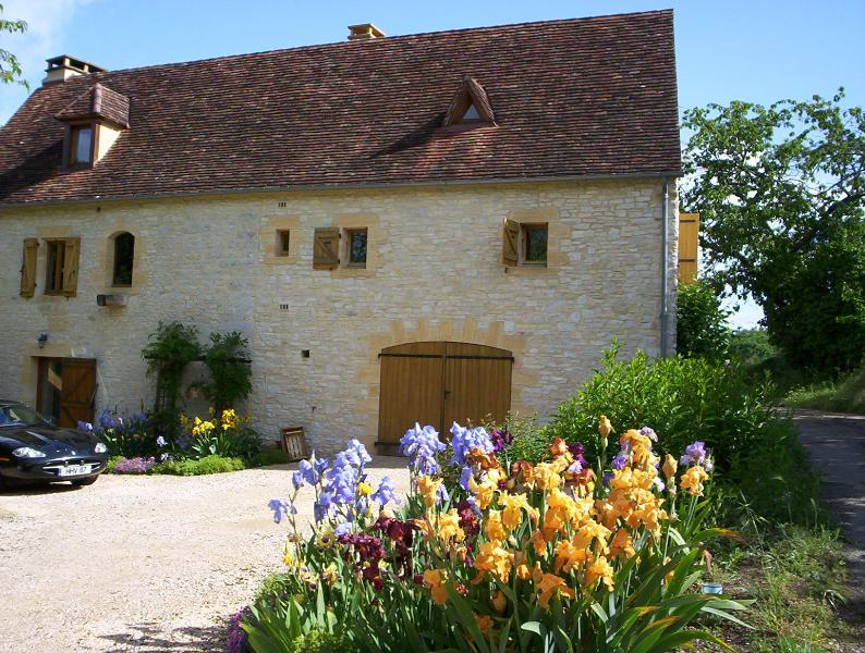 The gite is on the first floor and attic of the old farmhouse.