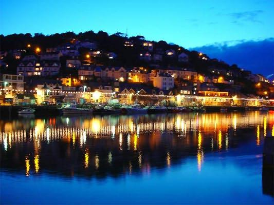 Looe river at night