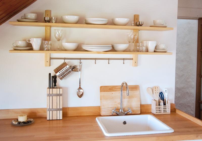 Solid Beech Worktop, Sink and Utensils