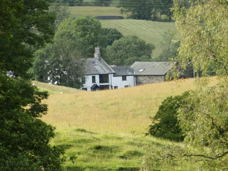 Oak Apple Barn and Violet Bank Fram nestle into the hills around Hawkshead, only 10 minutes walk