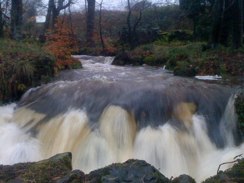 Wee Waterfall in Colzium Estate.
