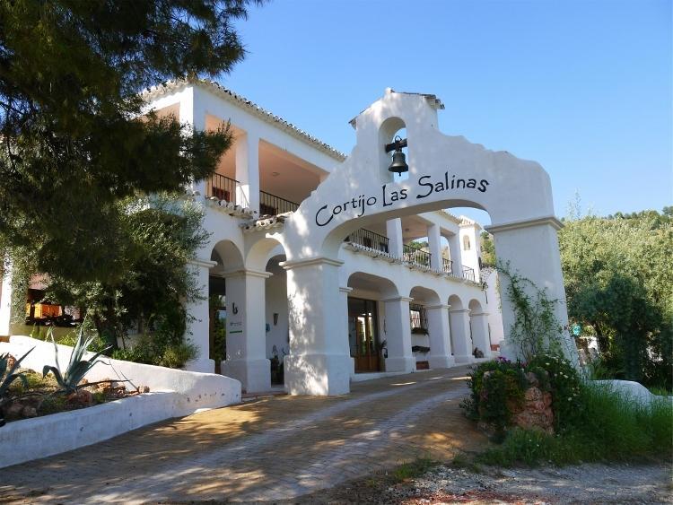 Cortijo Las Salinas - The bell hangs in the impressive entrance arch