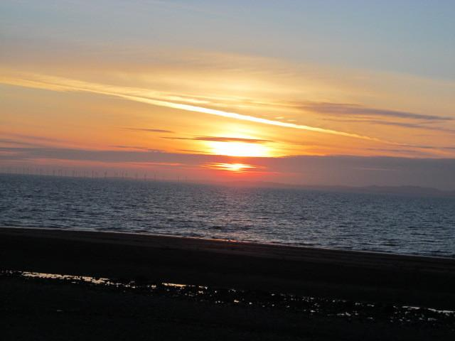 Sunset over Allonby beach