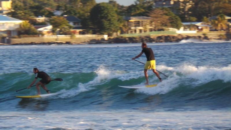 Surf and Stand up Paddle is popular at Tamarin Bay , 3 km from villa
