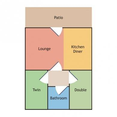 layout of the cottage