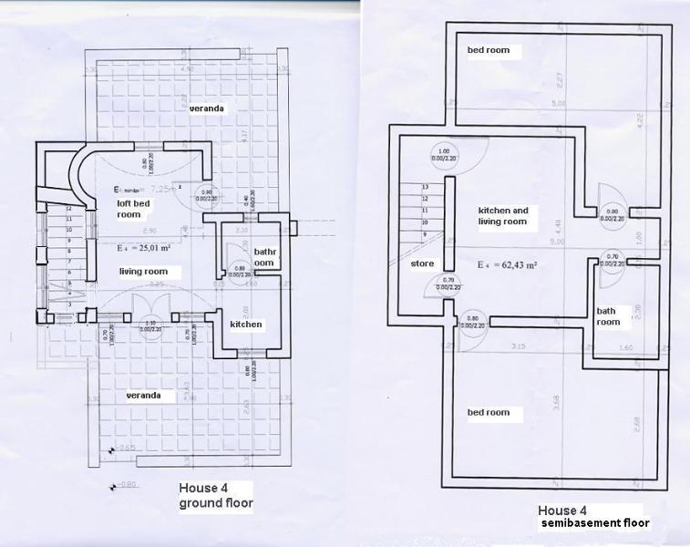 The plan of villa 'TURQUOISE'.