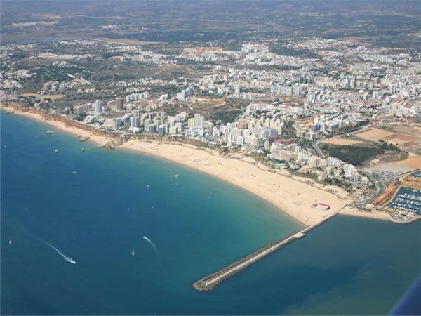 Aerial view from Praia da Rocha