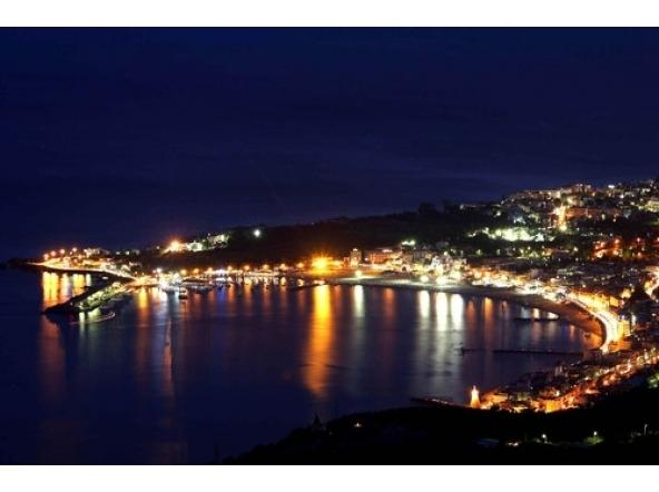 night view of Giardini Naxos bay