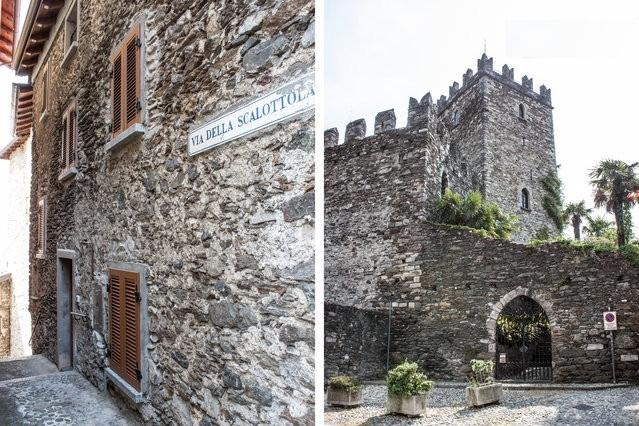 The castle and cobble streets of Rezzonico