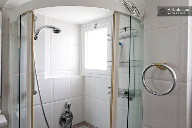 Shower next to one of the bedrooms. The bedroom can be used to be a study or playroom.
