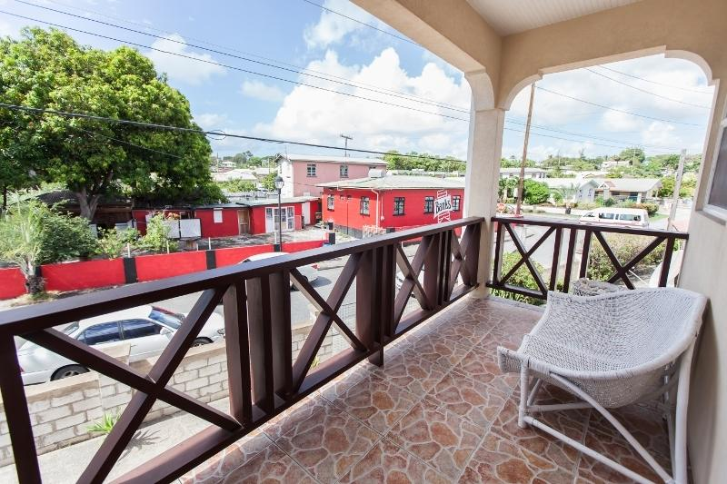 Balcony outside apartment 4
