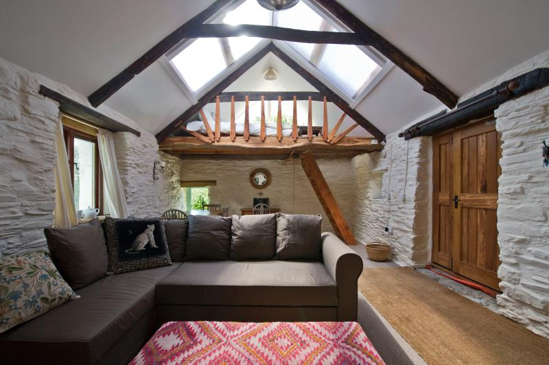 The converted mill barn with sleeping platform