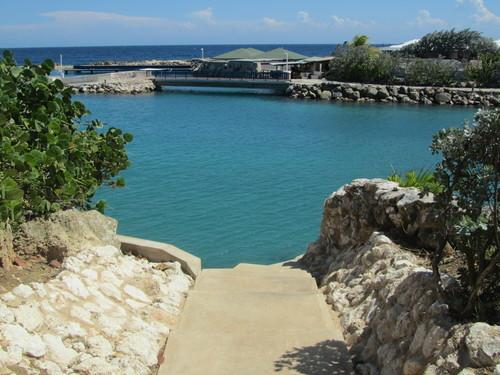 Leads to the Curacao Ocean Resort private beach