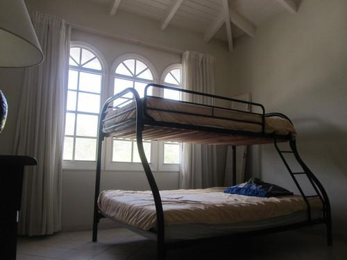 Third bedroom with King Size bed and bunk bed for (optional) 7th guest.