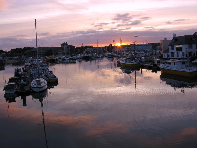 Weymouth Marina at sunset