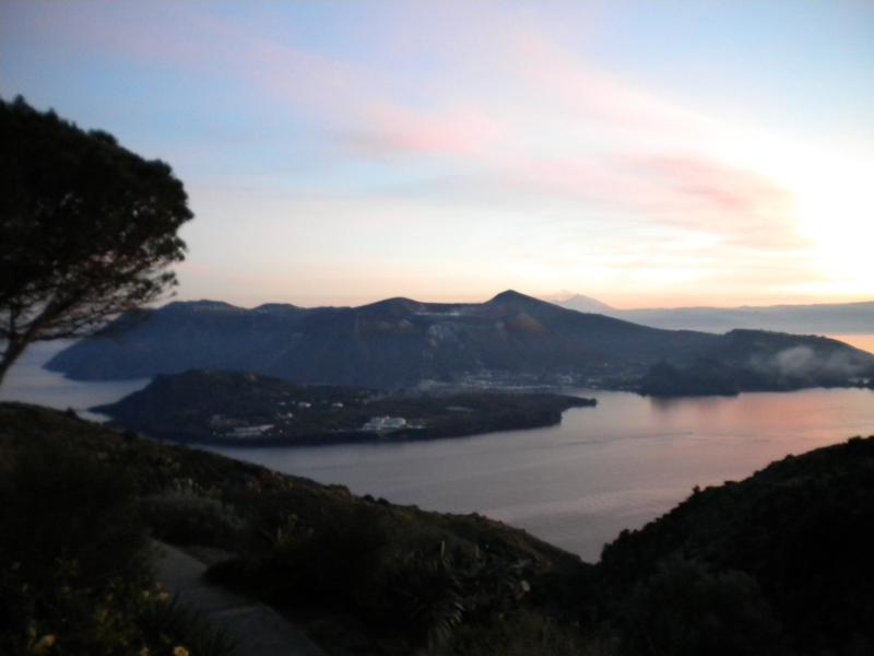 panorama visible from home at sunset