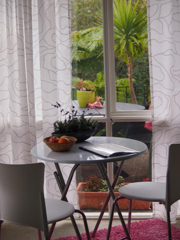 Dining table and garden views