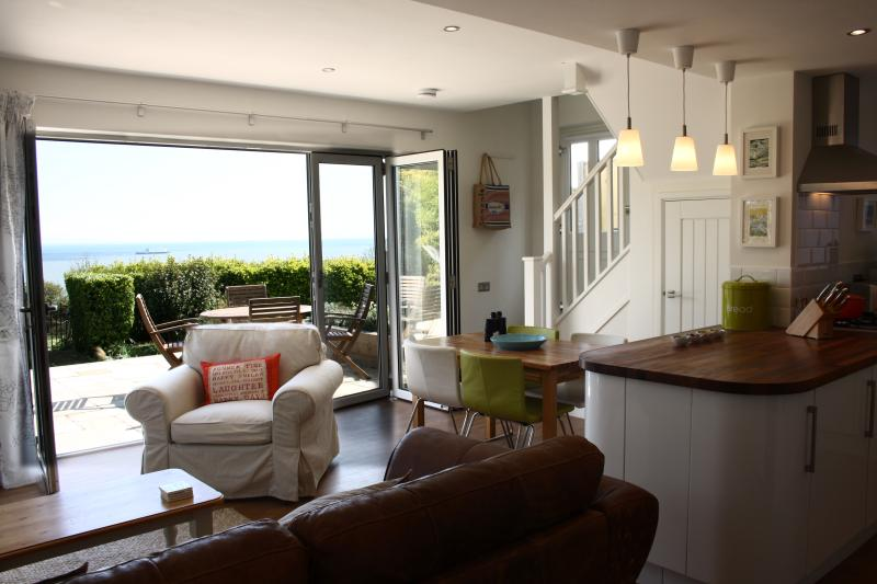 Stunning views across the English Channel from the open plan living accommodation