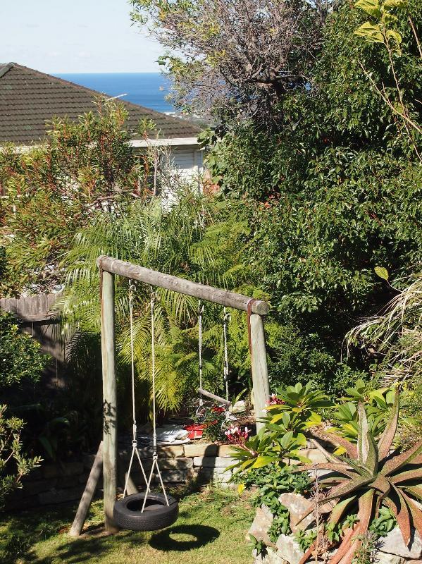 Swings in backyard