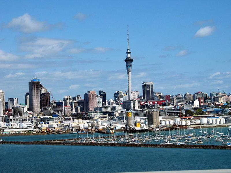 The view of Auckland from the North Shore