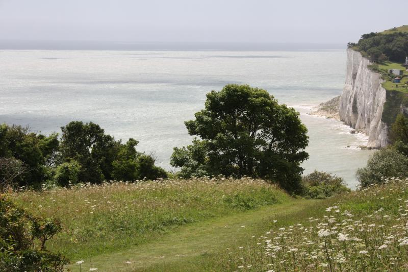 Cliff path from garden gate leading to the beach