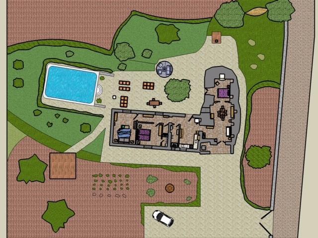 Plan of trullo (not including 2 acres of garden)