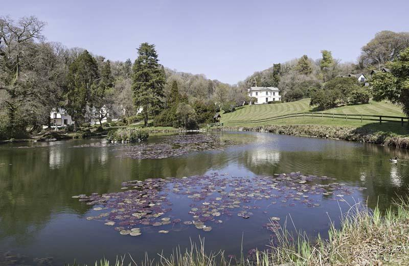 The fishing lake at the Manor House. Licence required a available to purchase on site.