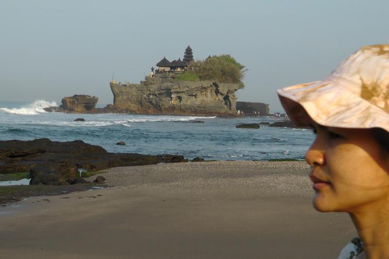 Tanhah Lot temple is a ten minute walk