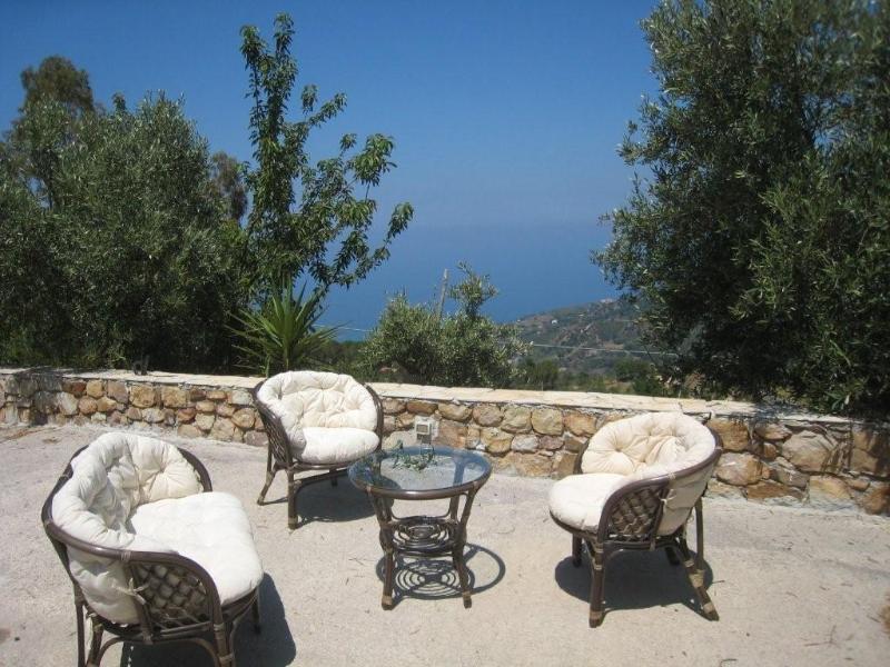 Panorama dalla villa con vista sul mare di Cefalù