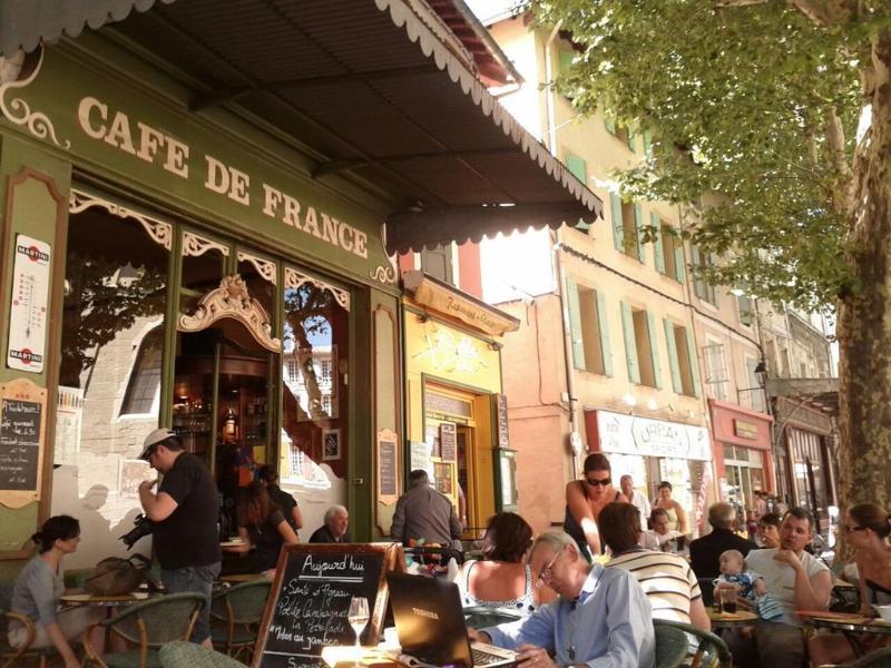 Cafe de France in l'Isle, near the Church