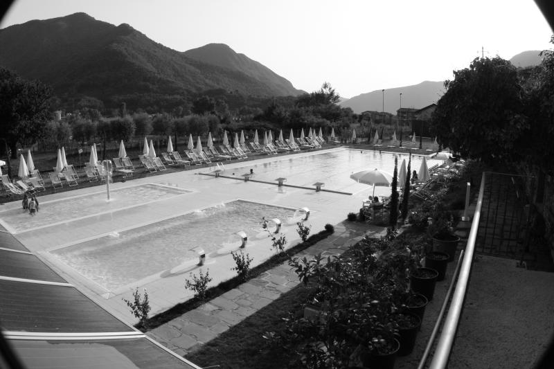Just down the hill from Oneta you have this public pool and tennis court.