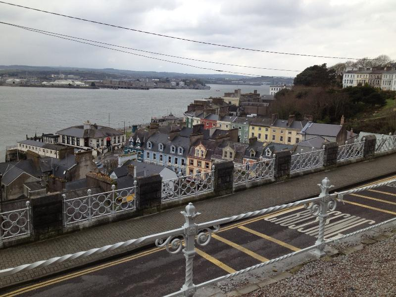 Downtown Cobh from Cathedral steps