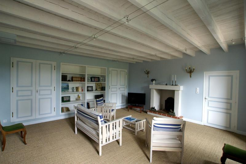 The lounge in the cottage