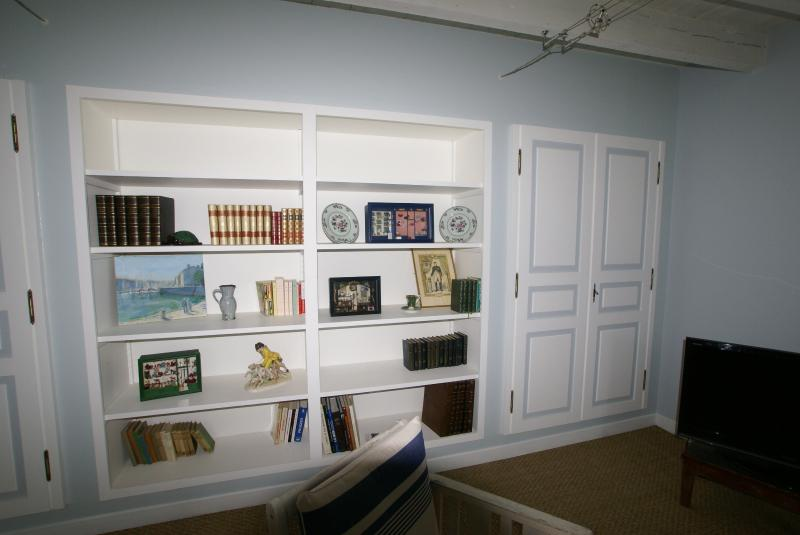 The library in the lounge