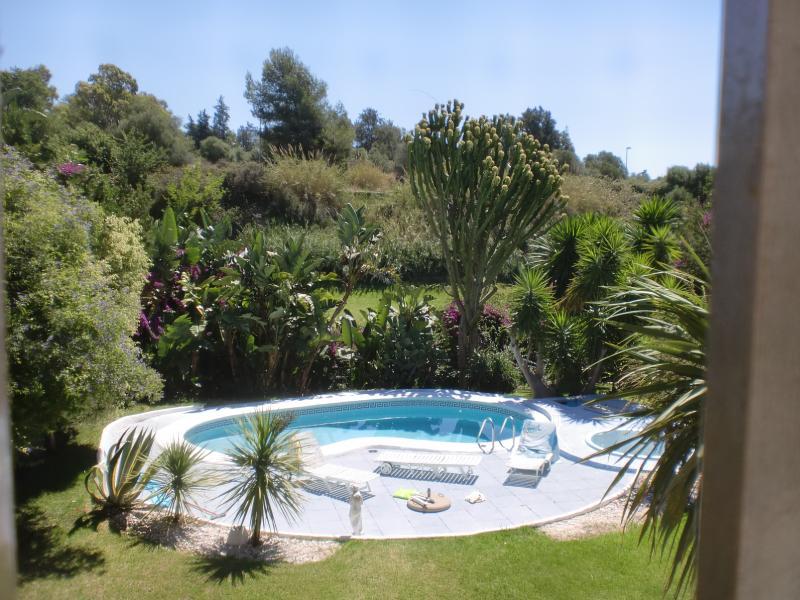 View of pool from en-suite bedroom