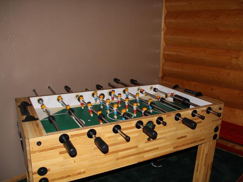 Foosball anyone! Tons of fun in the cabin