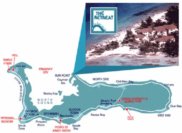 Map to the Retreat at Rum Point