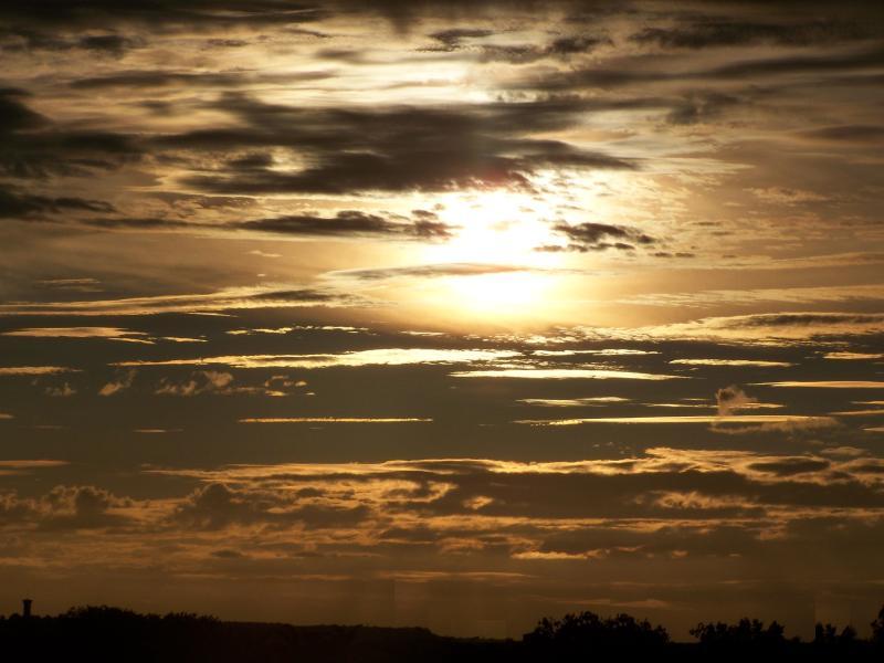 Vue du Ciel un Soir de Aout/der Himmel bei Nacht im August