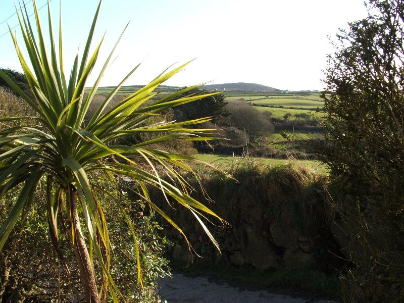View from garden - the first & last hill in England