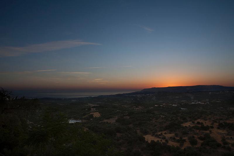 Vue sur le lever du soleil
