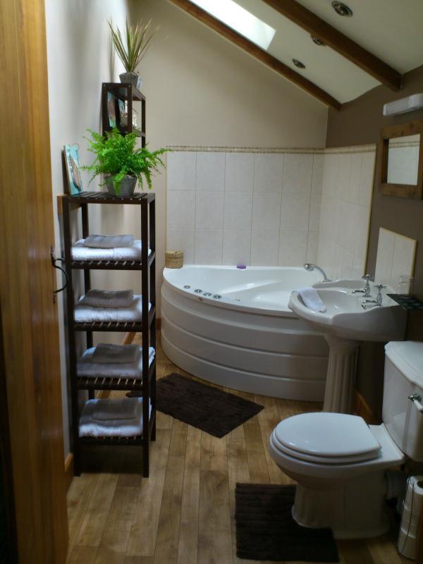 Family bathroom with Jacuzzi bath